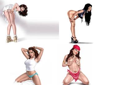 """Скачать обои 100 изображений """"Виртуальных девушек"""" бесплатно"""