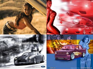 """Скачать обои \ 65 изображений """"Девушки и авто"""" бесплатно"""