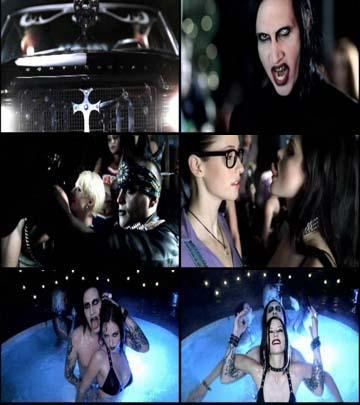 кадры с клипа Maryilyn Manson - Tained love