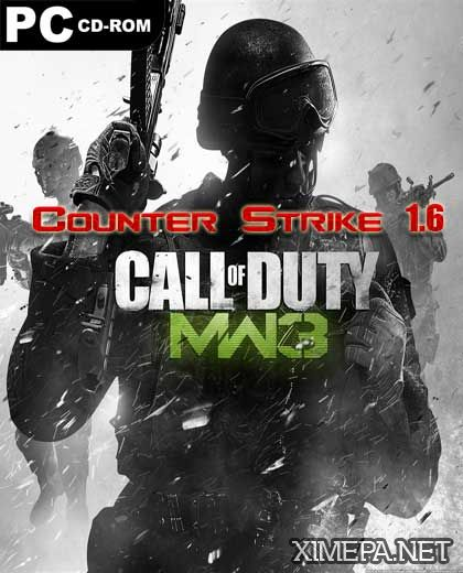постер Counter Strike 1.6 Call of Duty MW 3
