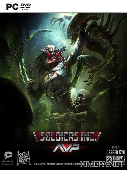 постер игры Soldiers Inc. AVP: Чужой против хищника