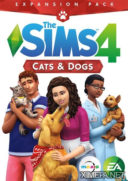 постер игры The Sims 4 Кошки и собаки