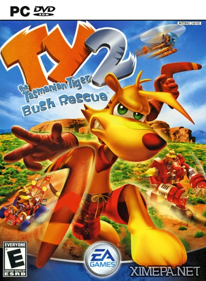 постер игры TY the Tasmanian Tiger 2