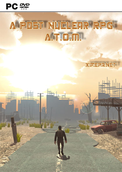 постер игры A Post Nuclear RPG A.T.O.M.