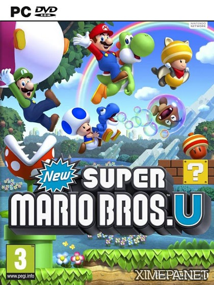 постер игры New Super Mario Bros U