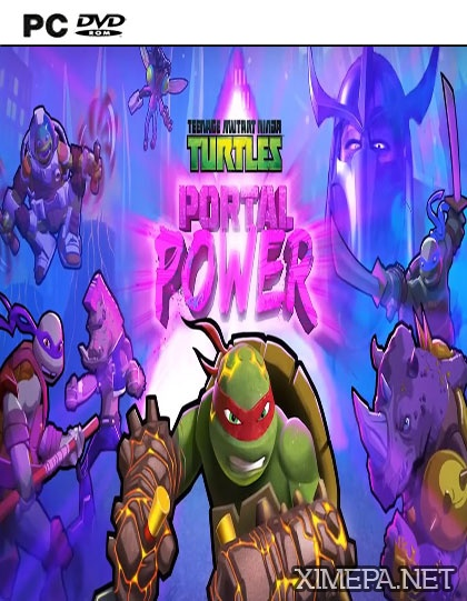постер игры Teenage Mutant Ninja Turtles: Portal Power