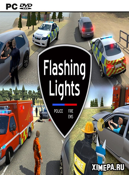 постер игры Flashing Lights Police Fire EMS
