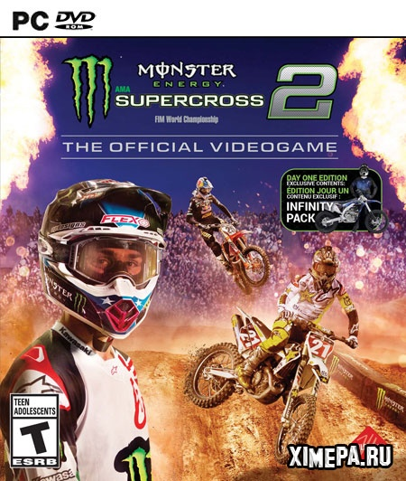 постер игры Monster Energy Supercross - The Official Videogame 2