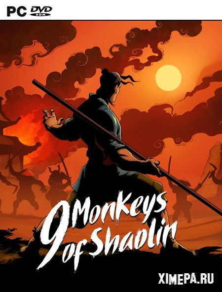 постер игры 9 Monkeys of Shaolin